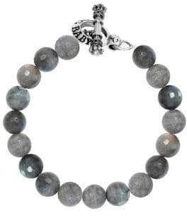 King Baby Studio Labradorite Sterling Silver Beaded Toggle Bracelet