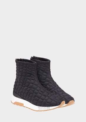 Versace Quilted Mock Croc Hercules Sneakers