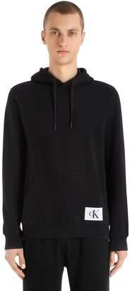 Calvin Klein Jeans Logo Patch Hooded Cotton Sweatshirt