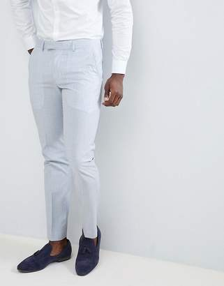 Farah Smart Skinny Wedding Suit Pants In Cross Hatch