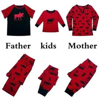 Shukqueen Moose Matching Christmas Family Pajamas Sets Sleepwear Nightwear 506ea0bbb