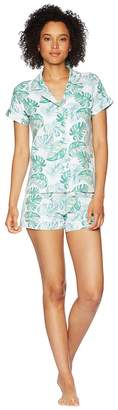 BedHead Palm Tree Short Sleeve Shorts Pajamas Women's Pajama Sets