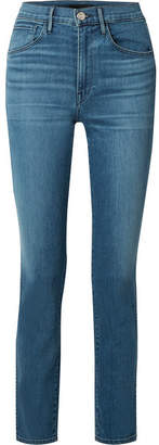 3x1 W3 High-rise Straight-leg Jeans - Mid denim