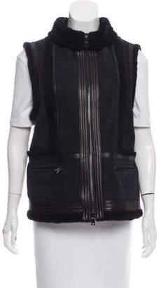 Vince Mock Neck Zip-Up Vest