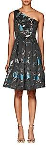 Cynthia Rowley WOMEN'S BIRD & FLORAL BROCADE ONE-SHOULDER DRESS SIZE 0