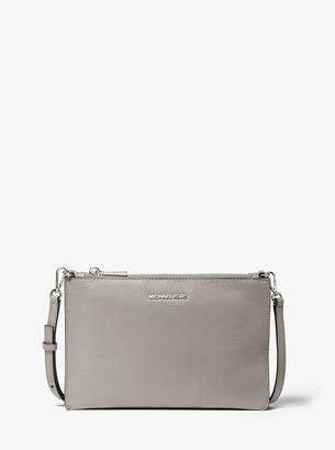 907ff0dd927a MICHAEL Michael Kors Gray Leather Crossbody Handbags - ShopStyle