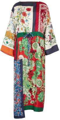 Gucci Printed Silk Kimono Dress