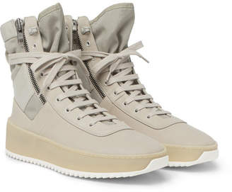 Fear Of God Military Nubuck And Mesh High-Top Sneakers
