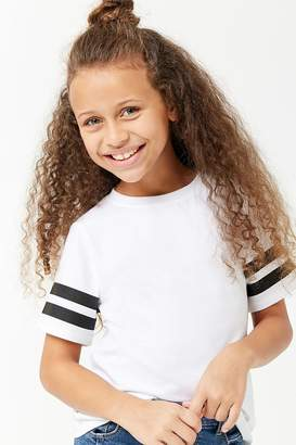 Forever 21 Girls Reflective Striped Tee (Kids)
