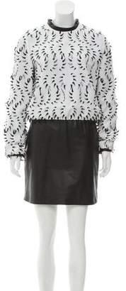 Iris Van Herpen Embellished Leather-Accented Dress