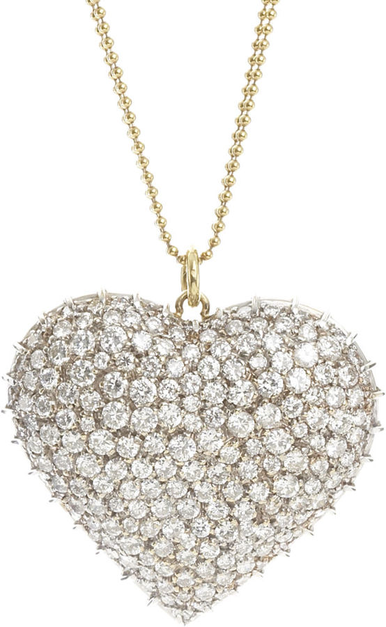 Renee Lewis Diamond Heart Necklace
