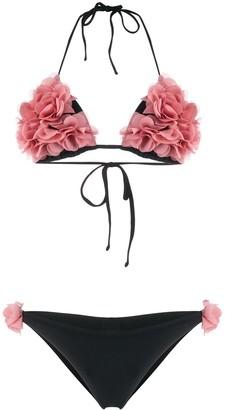 La Reveche ruffled floral bikini