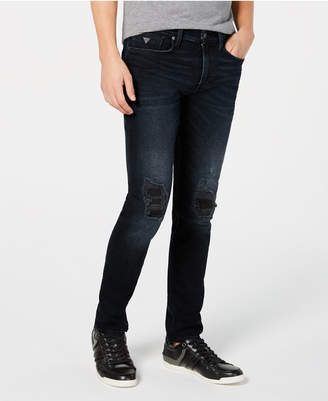 GUESS Men Slim-Fit Tapered-Leg Stretch Jeans