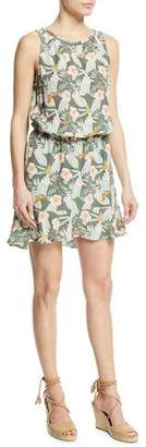 Joie Sabera Silk Floral-Print Blouson Dress