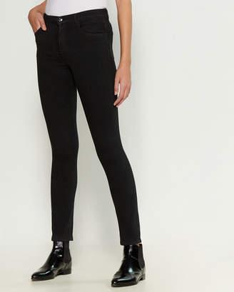 J Brand Ruby High-Rise Cigarette Glitter Jeans