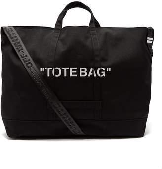 Off-White Quote canvas tote bag