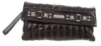 Rafe Quilted Studded Wristlet