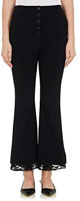 Proenza Schouler WOMEN'S LACE-HEM CADY FLARED PANTS