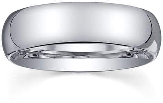 MODERN BRIDE 6mm Silver Domed Mens Wedding Ring