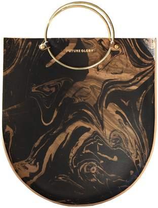 "Co Future Glory Black & Gold Marbled Leather Bag ""Midi"""