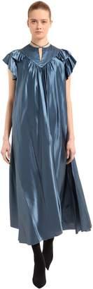 Balenciaga Flou Silk Satin Dress