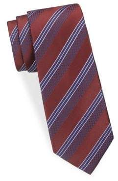 Ike Behar Striped Silk Tie