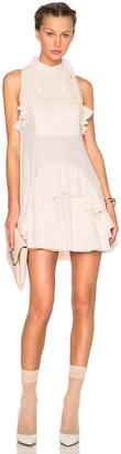 Alexander McQueen Ruffle Mini Dress $3,625 thestylecure.com
