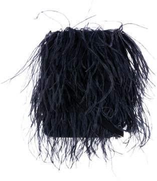 Marques Almeida Marques' Almeida Ostrich Feather Suede Shoulder Bag