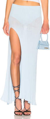 Jacquemus Long Sanremo Skirt in Baby Blue | FWRD