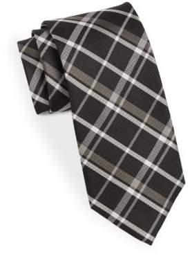 Black & Brown Black Brown Classic Plaid Tie