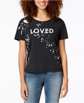 Peace Love World Paint-Splatter Love-Graphic T-Shirt