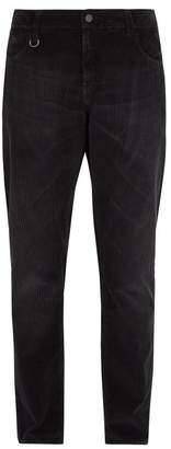 Moncler 7 Fragment - Slim Leg Corduroy Trousers - Mens - Black