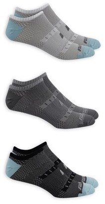 Russell Performance Men's COOLFORCE 360 Mesh Flat Knit Lightweight No Show Socks 3 Pack