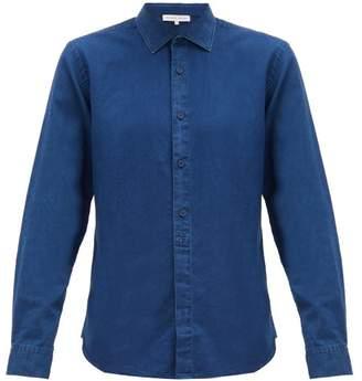 Orlebar Brown Giles Washed Cotton Shirt - Mens - Blue
