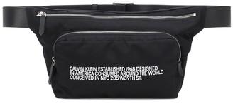 Calvin Klein Leather-trimmed belt bag