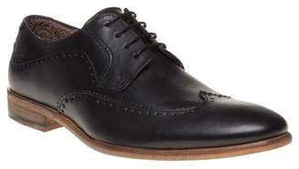 Sole New Mens Black Bantry Leather Shoes Brogue Lace Up