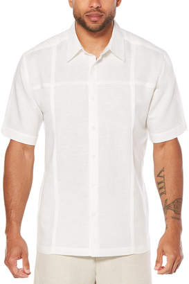 Cubavera Short Sleeve Tuck Panels Shirt