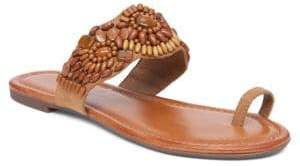 Jessica Simpson Toe-Ring Microsuede Sandals