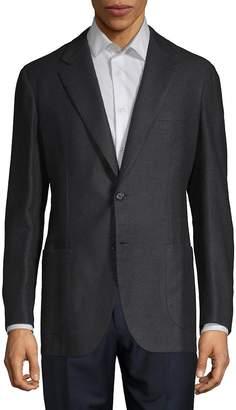 Brioni Men's Plaid Cashmere-Blend Suit Jacket
