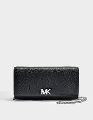 MICHAEL Michael Kors Mott Large East-West Clutch in Black Leather