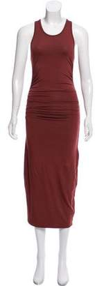 Enza Costa Sleeveless Ruched Midi Dress