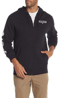 Volcom Fleece Lined Zip-Up Hoodie
