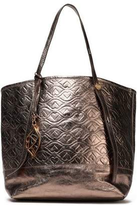 See by Chloe Bisou Quilted Metallic Textured-Leather Tote