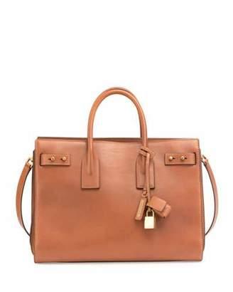 Saint Laurent Sac de Jour Medium Supple Leather Bag, Cognac $3,550 thestylecure.com