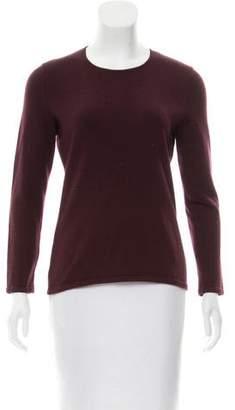 Oscar de la Renta Cashmere-Blend Crew Neck Sweater