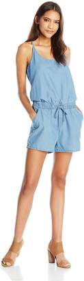 Vero Moda Women's Emilia Chambray Short Playsuit