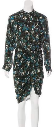 Veronica Beard Silk Long Sleeve Midi Dress w/ Tags