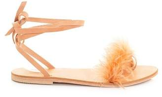 CHARLOTTE STONE Yvonee Ostrich Feather Sandal