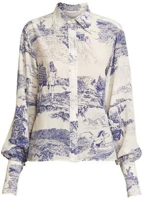 Chloé Toile de Jouy Silk Shirt