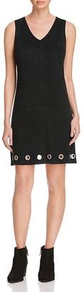 Alison Andrews Faux Suede Grommet Dress $78 thestylecure.com
